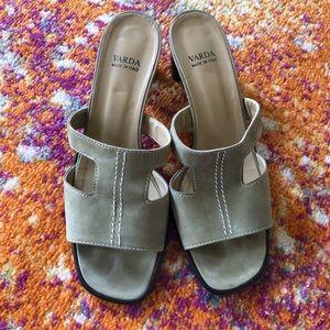 Varda heeled sandals - size 10 (fits like a 9.5)